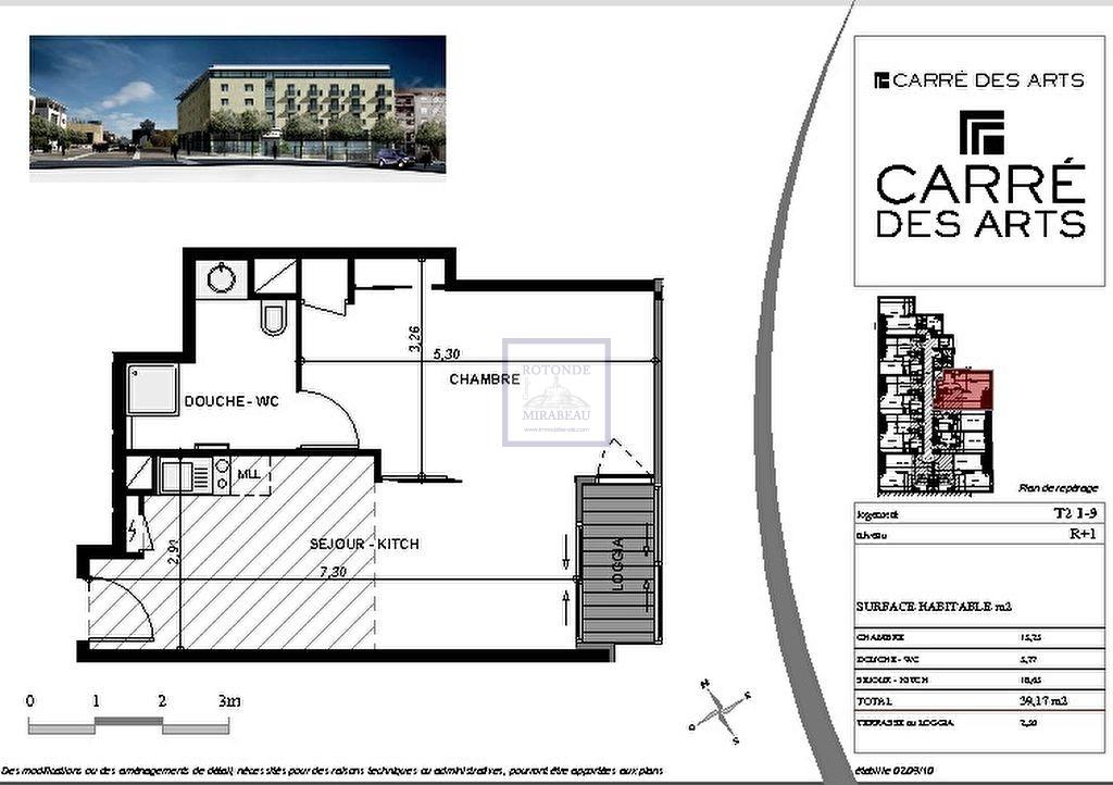 Vente Appartement AIX EN PROVENCE surface habitable de 39.28 m²