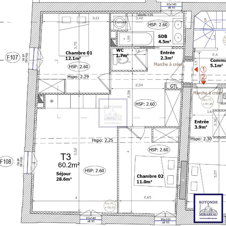 Vente Appartement AIX EN PROVENCE surface habitable de 60.2 m²